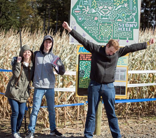 Corn maze victory!