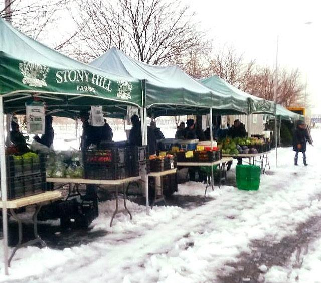 New Jersey Farmer's Market in the Winter