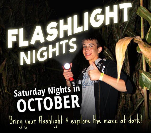 Flashlight Nights in the Maze - Saturdays in October